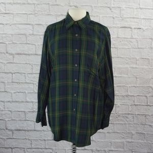 Ralph Lauren Oversized Tartan Plaid Tunic Top